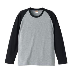 [在庫切れ]5.0オンスラグランロングスリーブTシャツ 5407-01