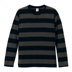5.0オンス ボールドボーダーロングスリーブTシャツ 5519-01