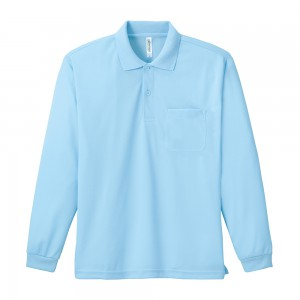 ドライ長袖ポロシャツ(ポケット付) 00335-ALP