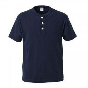 5.6オンス ヘンリーネックTシャツ 5004-01