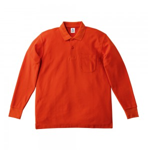 ポケット付CVC鹿の子ドライ長袖ポロシャツ MS3115